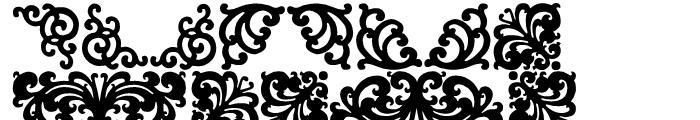 P22 Floriat Regular Font UPPERCASE