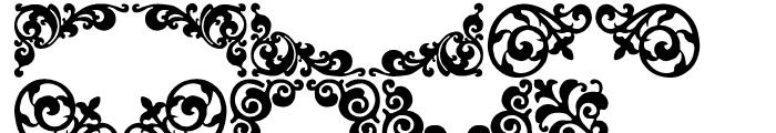 P22 Floriat Regular Font LOWERCASE