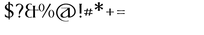 P22 Kirkwall Bold Trim Font OTHER CHARS