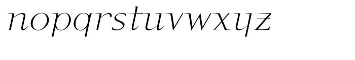 P22 Kirkwall Italic Font LOWERCASE