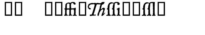 P22 Mayflower Extras Font UPPERCASE