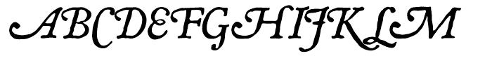 P22 Mayflower Italic Font UPPERCASE