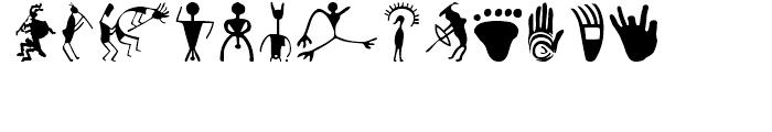 P22 Petroglyphs North American Font UPPERCASE