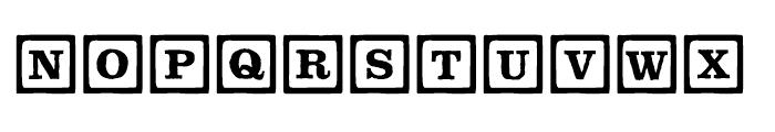 P22 Toy Box Blocks Line Font UPPERCASE