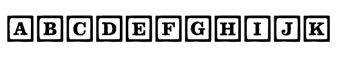 P22 Toy Box Blocks Line Font LOWERCASE
