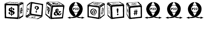 P22 Toy Box Blocks Font OTHER CHARS