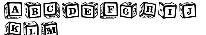 P22 Toy Box Blocks Font UPPERCASE