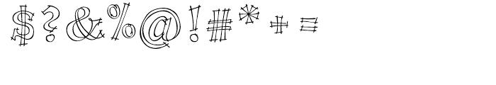P22 Tulda Regular Font OTHER CHARS