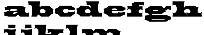 P22 Tuscan Expanded Font LOWERCASE