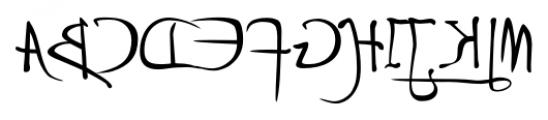 P22 Da Vinci Backwards Font UPPERCASE