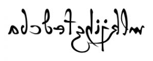 P22 Da Vinci Backwards Font LOWERCASE