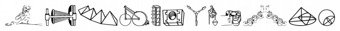P22 Da Vinci Extras Font UPPERCASE