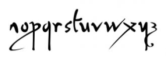 P22 Da Vinci Forward Font LOWERCASE