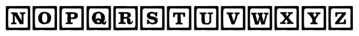 P22 ToyBox Blocks Line Regular Font UPPERCASE
