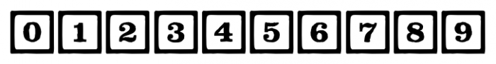 P22 ToyBox Blocks Line Font OTHER CHARS