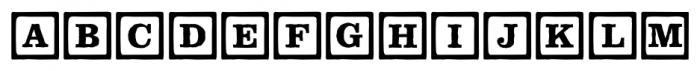 P22 ToyBox Blocks Line Font LOWERCASE