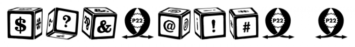 P22 ToyBox Blocks Regular Font OTHER CHARS