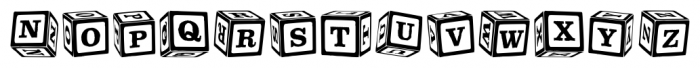 P22 ToyBox Blocks Regular Font LOWERCASE