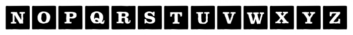 P22 ToyBox Blocks Solid Bold Font LOWERCASE