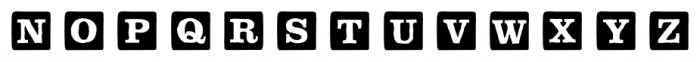 P22 ToyBox Blocks Solid Font UPPERCASE