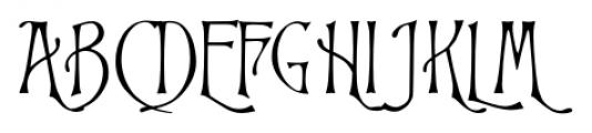 P22 Victorian Swash Font UPPERCASE