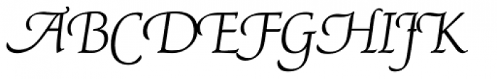 P22 Avocet Light Pro Font UPPERCASE