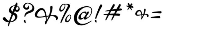 P22 Brass Script Pro Font OTHER CHARS