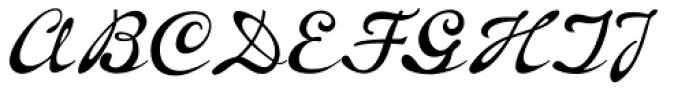 P22 Brass Script Pro Font UPPERCASE