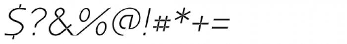 P22 Coda Light Italic Font OTHER CHARS