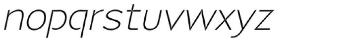 P22 Coda Light Italic Font LOWERCASE