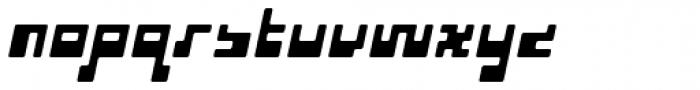 P22 Cusp Round Slant Font LOWERCASE