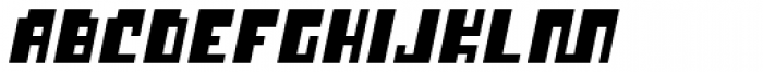 P22 Cusp Square Slant Font UPPERCASE