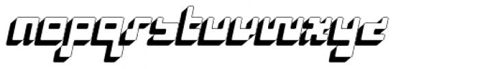 P22 Cusp Three Dee Font LOWERCASE