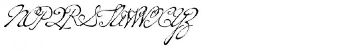 P22 Dearest Script Font UPPERCASE