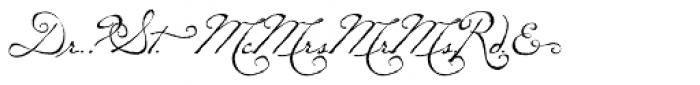 P22 Dearest Swash Font OTHER CHARS