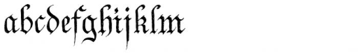 P22 Declaration Blackletter Font LOWERCASE