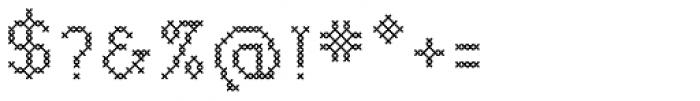 P22 Folk Art Cross Font OTHER CHARS