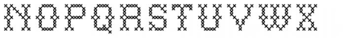 P22 Folk Art Cross Font UPPERCASE
