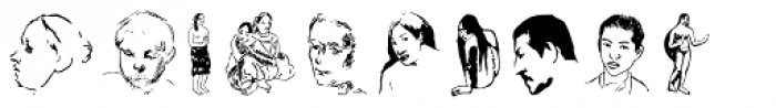 P22 Gauguin Extras Font UPPERCASE