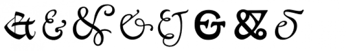 P22 Goudy Ampersands Font LOWERCASE