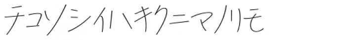 P22 Hiromina 03 Katakana Regular Font LOWERCASE