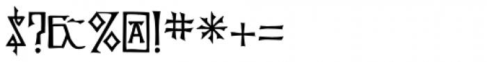 P22 Kells Square Font OTHER CHARS