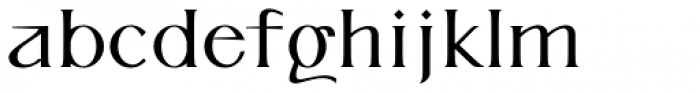 P22 Kirkwall Trim Bold Font LOWERCASE