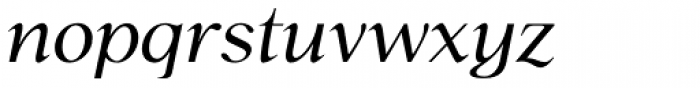 P22 Late November Italic Font LOWERCASE