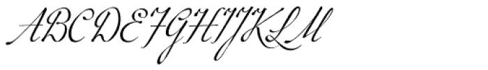 P22 Marcel Script Font UPPERCASE