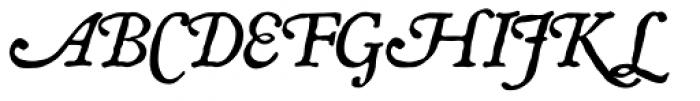 P22 Mayflower Pro Italic Font UPPERCASE