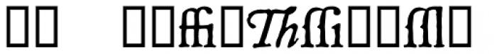P22 Mayflower Xtras Font UPPERCASE