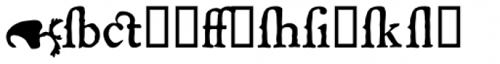 P22 Mayflower Xtras Font LOWERCASE