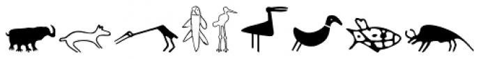 P22 Petroglyphs North American Font LOWERCASE