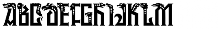 P22 Phantasmagoria Pro Font UPPERCASE